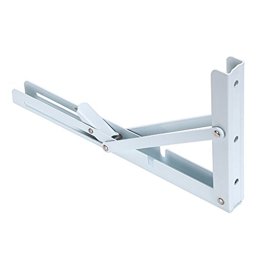 Sumnacon Folding Shelf Brackets Heavy Duty, White Metal Floating Shelf Bracket Supports Decorative Max Load 300lb, 2 Pcs Triangle Bracket for Wall Hanging Shelves 12 Inch by Sumnacon (Image #5)