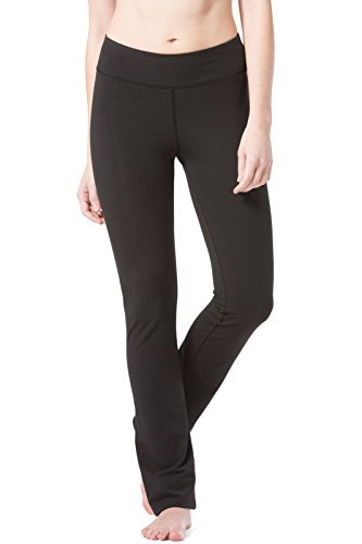 Fishers Finery Women's Ecofabric Straight Leg Yoga Pant (Black, L Petite)