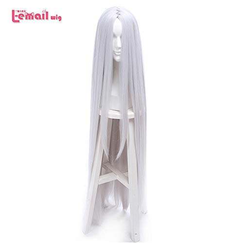 loyasun Wig Cosplay Party Costume Soft Synthetic Unisex Naruto Kaguya Ootutuki Long Silver Synthetic Hair Peruca 22
