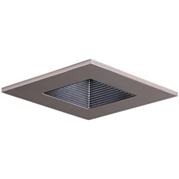 Halo Recessed 3012SNBB 3 Inch 15 Degree Trim Lensed Square Shower Light  With Black
