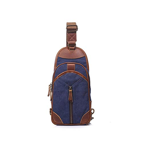 Cremallera Lona Blue color Con Color Azul Navy Blue Retro Bandolera Bolso De Bolsa Mensajero Simple Weatly wFtnHqXRq