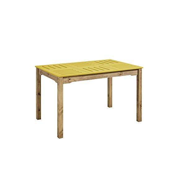 Manhattan Comfort Stillwell Dining Table, Yellow