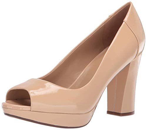 Leather Peep Toe Platform Pump - 9