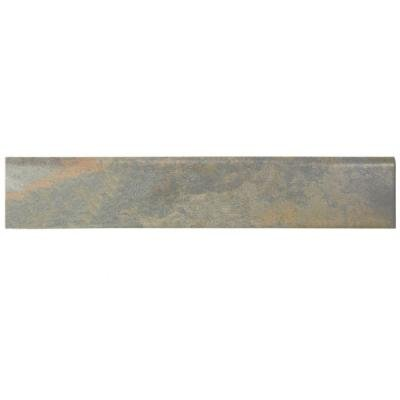 n. x 17-1/2 in. Porcelain Bullnose Floor and Wall Trim Tile (Ardesia Tile)