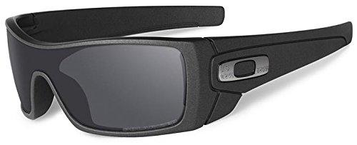 Oakley Men's Batwolf Polarized Iridium Rectangular Sunglasses, Cerakote Cobalt, 0 ()