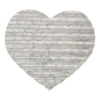 Large Metal Corrugated Heart Wall Decor - Metal Heart Decor