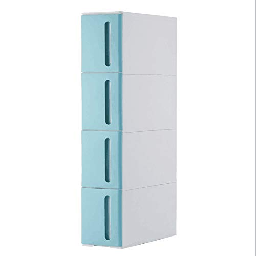Plastic Locker-Multi-Function Racks Siamese cabinets, Sewn Storage Racks, Kitchen Racks Blue 4Floor