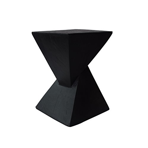 Christopher Knight Home 305832 Kajsa Outdoor Light-Weight Concrete Side Table, Black