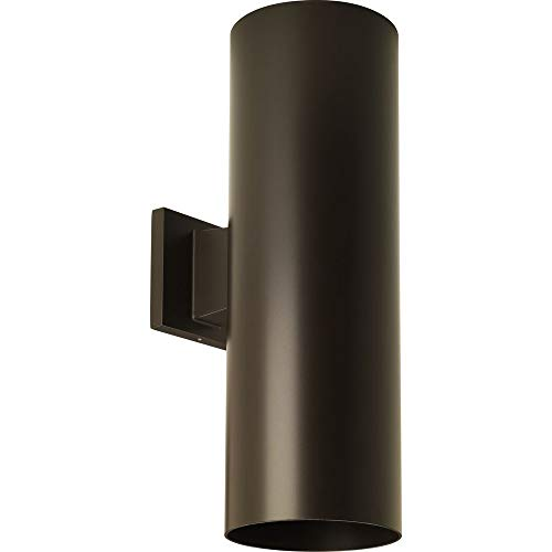 - Progress Lighting P5642-20 6-Inch Up/Down Cylinder with Heavy Duty Aluminum Construction and Die Cast Wall Bracket, Antique Bronze