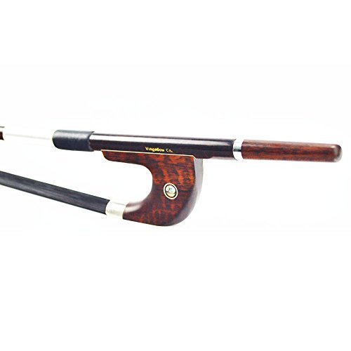 Pro Black Horsehair Snakewood German Model Double Bass Bow Bright Tone 630BGB by VingoBow