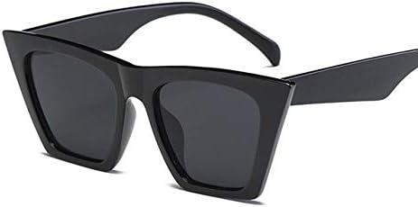 YDMZMS Fashion Vintage Ladies Occhiali da Sole Oversize Cat Eye Donna Designer di Marca Specchio Occhiali da Sole Blu per oculos Femminili Nero