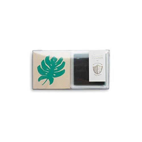 Daydream Society Tropicale Monstera Leaf Rubber Stamp + Green Ink Pad Set