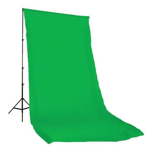 Photoflex Solid Color Series, 10x12' Dyed Muslin Background, Solid Chroma Green Color. by Photoflex