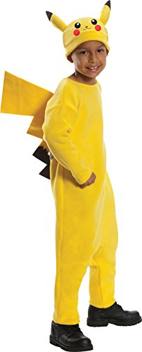 Rubie's Boy's Pokemon Pikachu Outfit Funny Theme Fancy Dress Child Halloween Costume, Child S (4-6) Yellow -