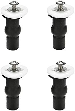 Toilet Seat Top Fix Screws Fixings 2 Pairs Universal Expanding Rubber Screw Top Nuts Blind Hole Hinges Fittings 4pcs