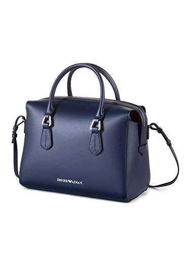 Emporio Zip Sacchetto Leather Con Giorno Armani Wilma Navy Di pr6qpwPR