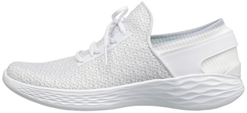 Mujer White Zapatillas Skechers para Performance sin You Inspire Blanco Cordones xwwvzt0qP