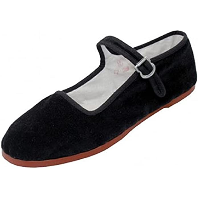 Shoes 18 Womens Cotton China Doll Mary Jane Shoes Ballerina Ballet Flats Shoes