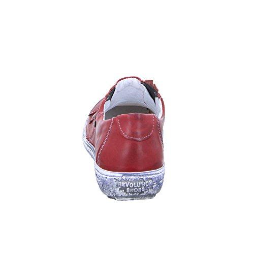 Kristofer 2047 Damen Slipper Leder Rot (Red)