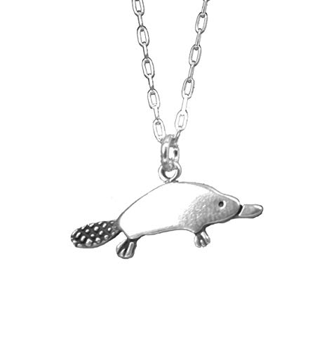 Sterling Silver Platypus Necklace on 18