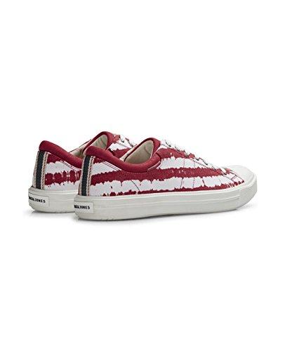 JACK & JONES Herren Sneakers jfwMERVIN Schuh Shoe Textil Canvas Sommerschuh Rot (Barbados Cherry)