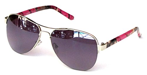 Women's Camouflage Sunglasses Aviator – Hot Pink Camo Frame Smoke - Camo Womens Sunglasses