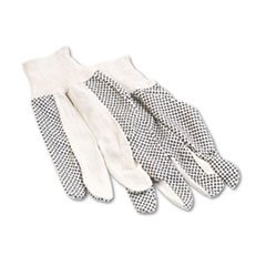 Mens Pvc Dotted Canvas - Men's PVC Dotted Canvas Clute Gloves (Set of 12)