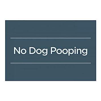 30x20 CGSignLab Basic Navy Window Cling 5-Pack No Dog Pooping