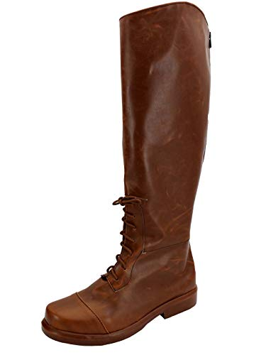 (GOTEDDY Halloween Rick Cosplay Boots Brown Costume Shoes Men Women (7.5 M US)