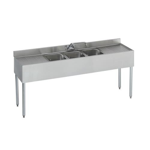Krowne 3-Compartment Bar Sink 18'' X 72'' (1863C)