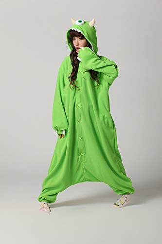 Es Unico Mike Wazowski Onesie Pajama Costume for Adults and Teenagers X-Large by Es Unico (Image #2)