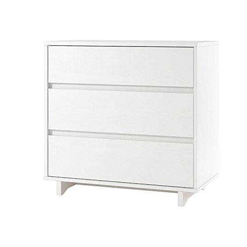 Room Essentials Modern 3-Drawer Dresser,White by Room Essentials