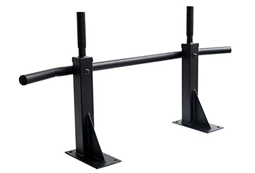 ProSource 300 lb Capacity Heavy Duty Wall Mount Chin Up/Pull Up Bar, Black