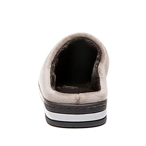 Confortevole Marrone leggero Uomo Donna Da Antiscivolo Antiscivolo Peluche Caldo Inverno Scarpe Pantofole Ultra Slipper Cotone Di Interni Casa Per Uwf6Tq