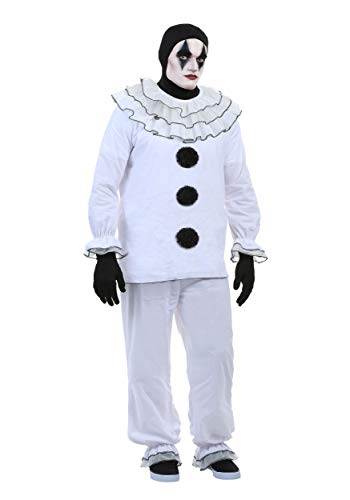 Plus Size Vintage Pierrot Clown Costume 2X White]()