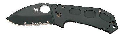 KA-BAR Knives Fin Folding Drop Point Serrated Knife, Outdoor Stuffs