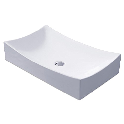 - KES Bathroom Sink, Vessel Sink Porcelain 25