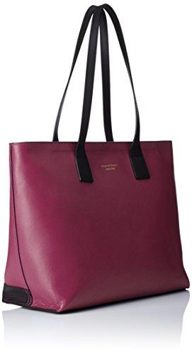 Collezione Piquadro 36 cm Bag Prugna spalla a Borsa Shopping Antilias Pelle ZZqPUEpw