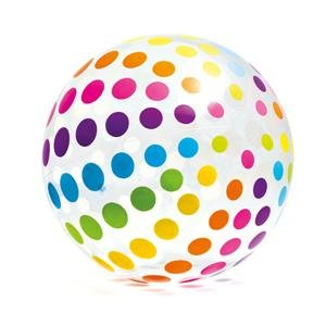 Intex Jumbo Inflatable Glossy Big Polka-Dot Colorful 42 Inch Giant Beach Ball
