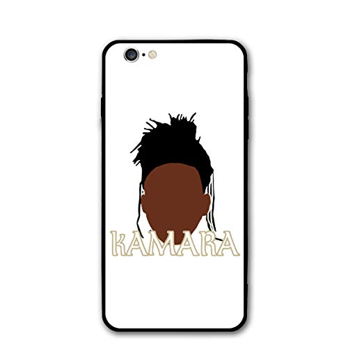 Slim Fit iPhone 6/6S Silicone Case, Black New Orleans Kamara Face Shock-Absorption Anti-Scratch Bumper Cover Dustproof Full Body Drop Protection Cover for Apple iPhone 6/6s