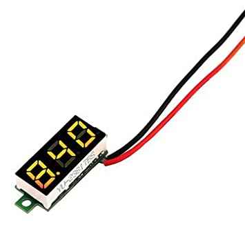 pictech Mini Digital Voltmeter Panel DC 2,5 30 V-Draht-Meter ...