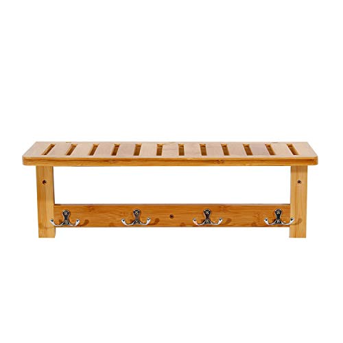 Used, DlandHome Bamboo Entryway Coat Rack Wall Mounted Shelf for sale  Delivered anywhere in Canada