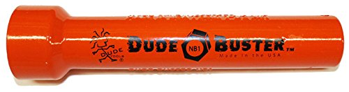 Dude Tools NB1 Nut Buster Socket 1-1/2'' High Impact Deep Socket with 1/2'' Drive and 7'' Bolt travel Length (for 1'' bolt or stud) by Dude Tools