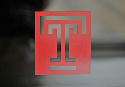 (TEMPLE UNIVERSITY Die-Cut Vinyl Set of (2) or Single for Auto Decal, Laptops, Yeti, Gear, Best value)