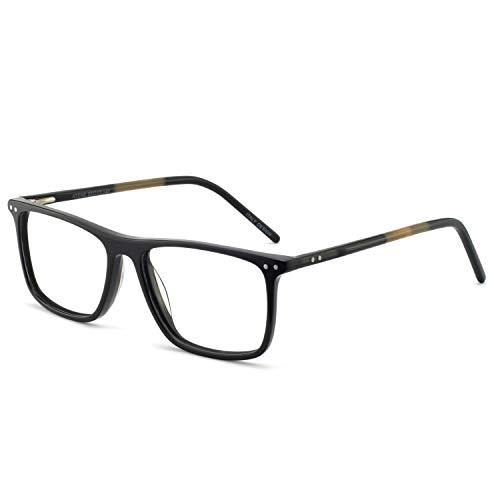 OCCI CHIARI Non-Prescription Eyewear Frame Clear Eyeglasses Men Optical Glasses Blue Light Blocking (Anti-blue light ()