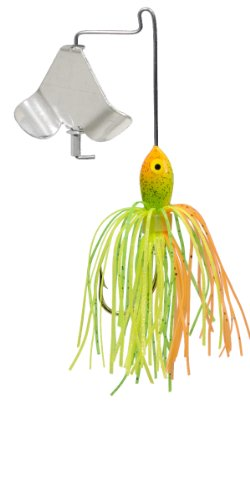 (Strike King Mini Pro-Buzz Bait (Chartreuse/Orange/Green, 0.125-Ounce))
