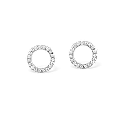 Essential Fully Diamond Studded Circle Earrings in ()