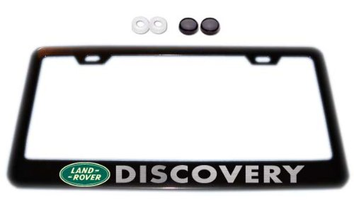 Land Rover Discovery w/ logo Black License Plate Frame w/ - Import ...
