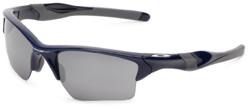 Oakley Half Jacket 2.0 XL OO9154-24 Iridium Sport Sunglasses,Polished Navy/Black Iridium,55 mm