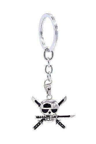 [ICEMPs One Piece Cosplay Accessory Roronoa Zoro Skeleton Pendant Key Ring V1] (Roronoa Zoro Costumes)